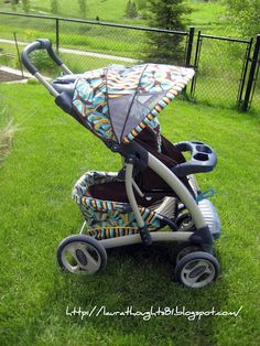 Tutorials to recover any baby product imaginable.    Laura Thoughts: Stroller Re-Covers and more.