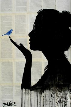 Buy Prints of harmony...., a Pen and Ink on Paper by LOUI JOVER from Australia. It portrays: People, relevant to: beauty, jover, bird, woman, Pop art, loui jover, contemporary, drawing, harmony, ink, nature ink, pencil and collage on adhered sheets of vintage book paper