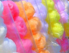 cotton candy happy-tummy-makes-happy-me Neon Party, Candy Party, Candy Craze, Yummy Treats, Sweet Treats, Candy Floss, Cookie Pops, Colorful Candy, Pastel Candy