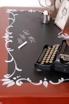 chalk paint desk top