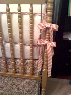 How to make a crib bedskirt without it being too long or too short and also making a bumper pad!