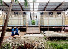 Jun Sekino has redesigned an earthquake-damaged school in Thailand.