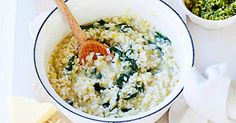 Create a hearty meat-free meal with this creamy kale and leek risotto.