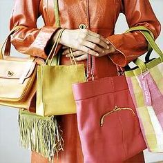 Bonnie Cashin designed some iconic Coach bags in the 1960's. So cool!