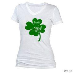 DIY St. Patrick's Day Tee Shirt Irish Girl Iron On by DIYSewing Irish Girls, Tee Shirts, Tees, Iron, Trending Outfits, Mens Tops, Diy, Gifts, Fashion
