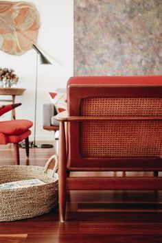 RED PARKER CHAIRS - The White Room: Scandinavia in the Tropics at Eva & Col's Townsville House