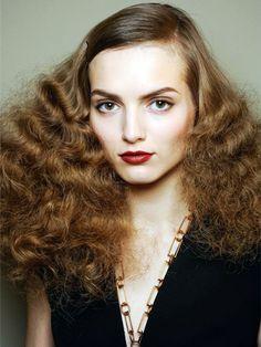 Get the look: big 70's hair as seen at Bottega Veneta at Milan Fashion Week - love this look!