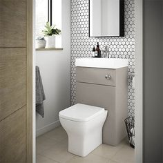 SHOP the Brooklyn Grey Avola Combined Wash Basin & Toilet at Victorian Plumbing UK Small Toilet Room, Black Toilet, Small Downstairs Toilet, Wash Basin, Grey Toilet, Back To Wall Toilets, Bathroom Furniture, Toilets And Sinks, Bathroom Design