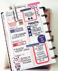 Planner 2018, Planner Layout, Planner Pages, Planner Stickers, Planner Ideas, Life Planner, Create 365 Happy Planner, Mini Happy Planner, Planner Decorating