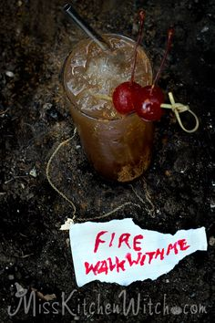 Fire Walk with Me – Twin Peaks inspired Cocktail via http://MissKitchenWitch.com