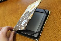 Recycle an old shirt and an old book to make a case for your Kindle! We think this could work well for the Nook and a tablet too! Check it out: Catch up with Kaitlin: DIY Kindle Case