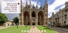 View our 360° virtual tour: Peterborough Cathedral. Katherine of Aragon (daughter of King Ferdinand II of Aragon and Queen Isabella I of Castille AND the first wife of King Henry VIII and mother of Mary I, Queen of England) is buried here.