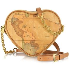 Alviero Martini 1A Classe Handbags 1a Prima Classe - Geo Printed Contemporary Heart Shoulder Bag