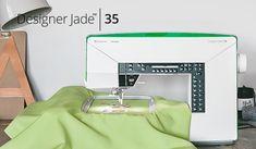 Husqvarna Viking Designer Jade 35 Sewing and Embroidery Machine Sewing Hacks, Sewing Crafts, Sewing Tips, Embroidery Fonts, Machine Embroidery, Viking Sewing Machine, Sewing Machines, Bubble Quilt, Owl Cushion