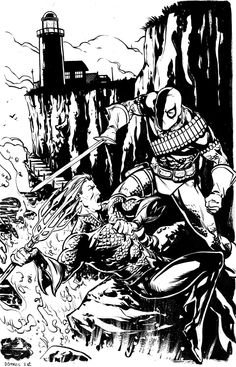 Aquaman vs. Deathstroke - BWAHAHAHA! I see you brought a fork to a sword fight! Expecting spaghetti?