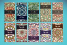 Business cards in ethnic style by ViSnezh on @creativemarket