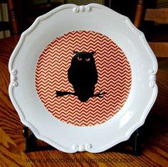 Halloween Owl Plate... { tutorial } - Uncommon Designs...