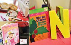 book theme baby shower centerpiece