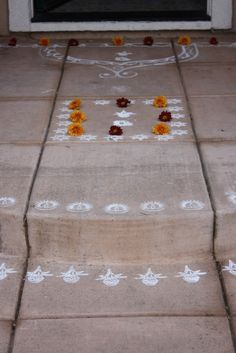 Sreelus Tasty Travels: diwali   DIY with chalk on cement sidewalk