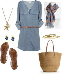 """""""Simple Summer Look"""" by bluehydrangea 鉂?liked on Polyvore"""