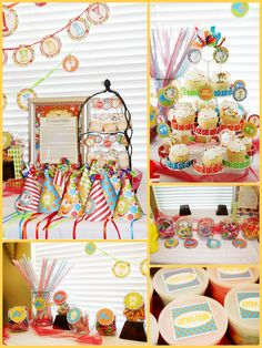 colorful circus party