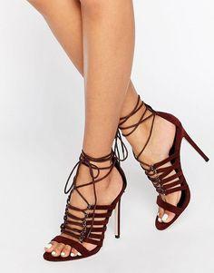 7320d631d35 ASOS HURRICANE Lace Up Heeled Sandals at asos.com