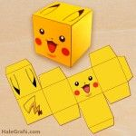 FREE Printable Pokémon Pikachu Treat Box