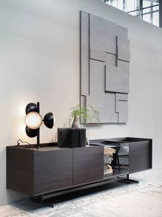 Get Inspired by these Sideboards and Buffets decoration ideas! Sideboard Furniture, Home Furniture, Furniture Design, Credenza, Furniture Dolly, Modern Room Decor, Living Room Decor, Home Decor, White Interior Design