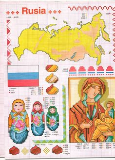 Gallery.ru / Фото #103 - ENCICLOPEDIA ITALIANA 3 - KIM-2 Funny Cross Stitch Patterns, Cross Stitch Designs, Cross Stitching, Cross Stitch Embroidery, State Crafts, Blackwork Patterns, Cross Stitch For Kids, Cross Stitch Collection, Religious Cross