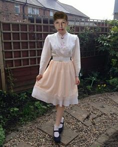 """satanscelestialbaby: """"Today's outfit, it's been such a lovely day so I went for an Edwardian girl look and wore my skirt from The Virgin Mary """" New Outfits, Girl Outfits, Cute Outfits, Petticoated Boys, Sissy Boys, Dress Skirt, Dress Up, Feminized Boys, Party Frocks"""