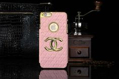 Chanel iphone 6 Round Hold Hard Back Cases Covers Pink Free Shipping - Deluxeiphone6case.com