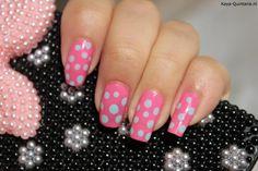 gestippelde nail art nagellak