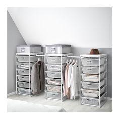 IKEA - ALGOT, Stativ/meshbackar/stång, Delarna i serien ALGOT går att kombinera på många olika sätt och är därför enkla att anpassa efter behov och utrymme.När du kompletterar stativet ALGOT med backar från samma serie får du en smidig förvaringslösning som passar överallt i ditt hem.Kan även användas i badrum och andra våtutrymmen inomhus.Med topphyllplanet ALGOT kan du skapa en praktisk avlastningsyta på alla stativ i samma serie.Står stadigt även på ojämna golv eftersom fötterna ...