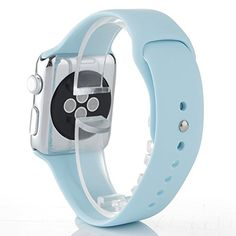 Apple Watch Band (3 Pieces of Bands Included for 2 Lengths) -Soft Silicone Sport Style Replacement Iwatch Strap for Apple Wrist Watch (Turquoise 38mm) HUANLONG http://www.amazon.com/dp/B0177RFRBA/ref=cm_sw_r_pi_dp_X9Zrwb1DBJ12F