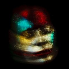 Abstract photos of faces that resemble exploding fireworks