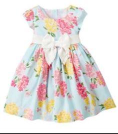 Janie and Jack Blossom Celebration Silk Hydrangea Dress 12-18 Months VHTF!