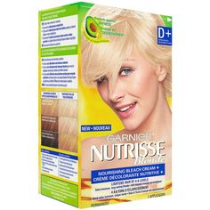 Shop for Nutrisse Cream D + Extra Bleach by Garnier Hair A, Your Hair, Dyed Blonde Hair, 8 Weeks, Luxury Beauty, Seed Oil, Bleach, Drugs, Hair Color