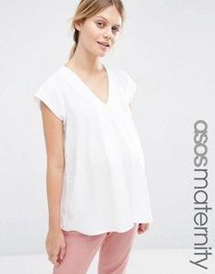 ASOS Maternity V- Neck Origami T-Shirt