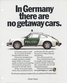 """Why are car ads so boooooooooring nowadays? Here are a bunch of vintage print ads from Porsche. When good writing in the auto industry was a thing. Carros Porsche, Porsche Autos, Porsche 935, Porsche Cars, Bugatti Cars, Porsche Panamera, Porsche Carrera, Porsche 911 Classic, Bmw Classic Cars"