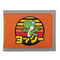 Super Mario Yoshi Japanese Logo Bi-fold Wallet Bioworld in Stock for sale online Super Mario Art, Japanese Logo, Branded Wallets, Purses And Handbags, Yoshi, Nerdy, Best Gifts, Geek Stuff, Llamas
