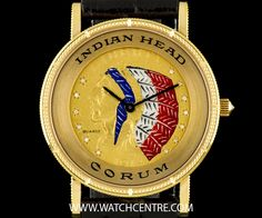 CORUM 18K YELLOW GOLD 5 DOLLAR RED INDIAN HEAD GENTS WRISTWATCH  http://www.watchcentre.com/product/corum-18k-yellow-gold-5-dollar-red-indian-head-gents-wristwatch/6123