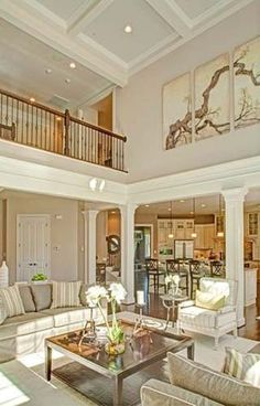 Traditional Living Room with Crown molding
