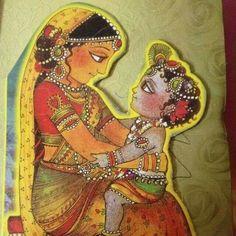 Lord Krishna with Yashoda maa