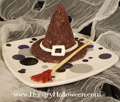 Hungry Halloween: Halloween Recipe - Cappello di Strega: Cheese ball shaped into a witch's hat.