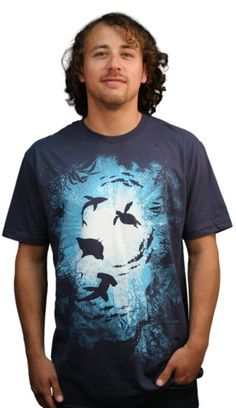 Limited Edition - Deepness T-shirt by timizy01 from Design By Humans. Deep in the depths of your wardrobe lives this awesome tee. If this is not in your wardrobe then it should be. Given the Limited Edition treatment this tee will be even more popular this time around. Blue colors, detailed illustration and cool tee graphic combine to make a top selling tee.  for $20