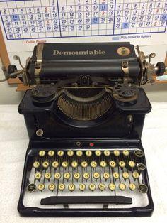 Demountable No. 1 Model 1 Antique Vintage Typewriter