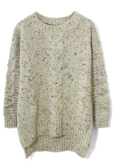 Buy the cheapest fashion @ www.kpopcity.net!! Candy Dots Cable knit Sweater in Ivory - New Arrivals - Retro, Indie and Unique Fashion