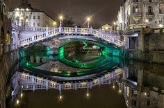 Tromostovje - Tree bridges, Ljubljana, Slovenia