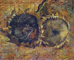 Vincent van Gogh Still Life with Two Sunflowers 1887 Owner/Location: Kunstmuseum Bern (Switzerland) Dimensions: Height: 50 cm in.), Width: 60 cm in.) Medium: Painting – oil on canvas Theo Van Gogh, Vincent Van Gogh, Art Van, Flores Van Gogh, Van Gogh Still Life, Van Gogh Flowers, Van Gogh Pinturas, Artist Van Gogh, Van Gogh Paintings