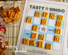 Edible Bingo Game with free printables. Such a fun learning game for kids!